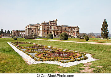 Witley Court ruins formal gardens and classical fountains