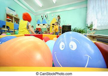 witn, toneelstuk, container;, kleuterschool, volwassenen, ...
