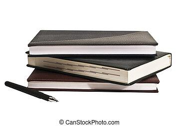 witte , aantekenboekje, vrijstaand, achtergrond