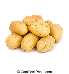 witte achtergrond, aardappel