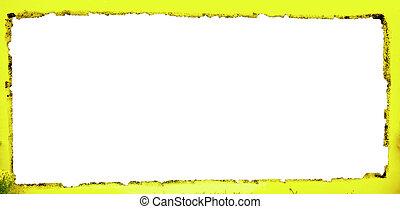witte achtergrond, gele, frame