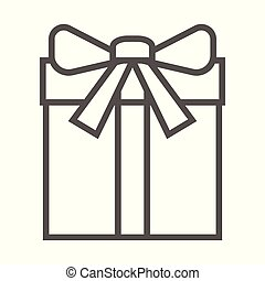 witte achtergrond, illustratie, cadeau, pictogram