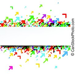 witte achtergrond, kleurrijke, arrows.