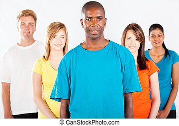 witte , anders, groep, mensen