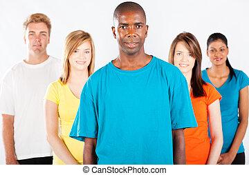 witte , anders, mensen, groep