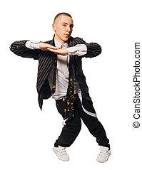 witte , artiest, breakdance, achtergrond