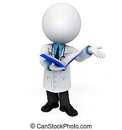 witte , arts, 3d, mensen