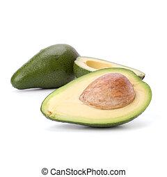 witte , avocado, vrijstaand, achtergrond
