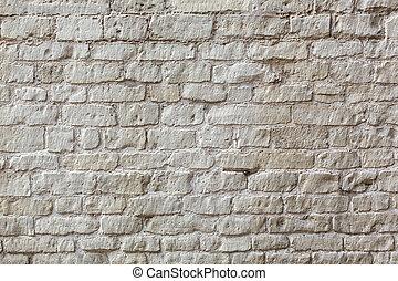 witte baksteen, muur, achtergrond