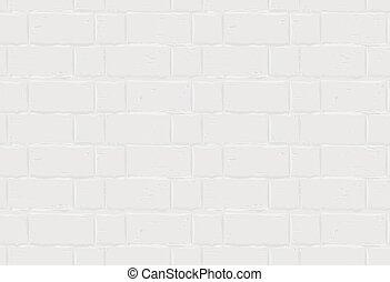 witte baksteen, seamless, textuur, wall.