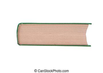 witte , boek, vrijstaand, achtergrond