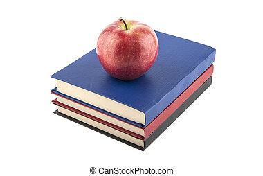 witte , boekjes , appeltjes , achtergrond