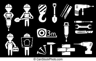witte, bouwsector,  Set, Industrie