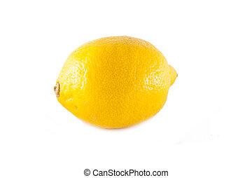 witte , citroen, vrijstaand, achtergrond