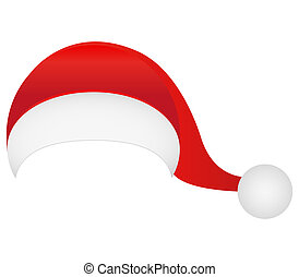 witte , claus, hoedje, vrijstaand, kerstman