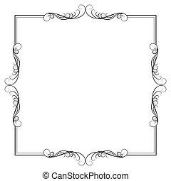 witte , decoratief, achtergrond, kalligrafie, frame, black , decoratief