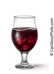 witte , drank, sangria, vrijstaand, achtergrond