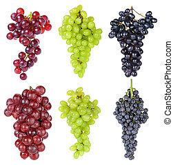 witte druif, vrijstaand, achtergrond
