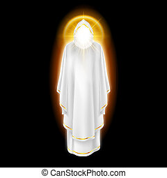 witte engel, op, black