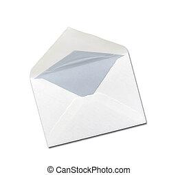 witte envelop, vrijstaand, bakground