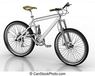 witte , fiets, vrijstaand, backgrou