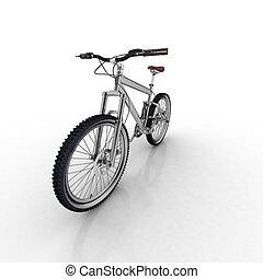 witte , fiets, vrijstaand