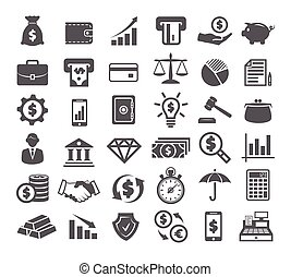 witte , financiën, iconen