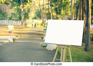 witte , frame, foto, in, huwelijksdag