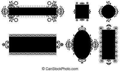 witte , frames., black