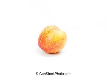 witte , fruit, perzik, rijp, vrijstaand