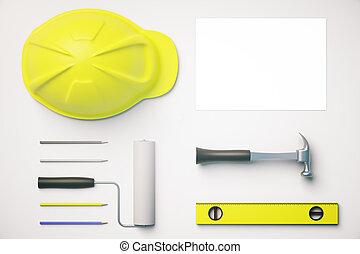 witte , gereedschap, desktop