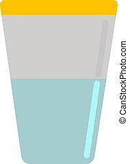 witte , glas, achtergrond., vector, water, illustratie