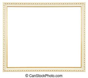 witte , goud, frame