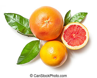 witte , grapefruits, achtergrond