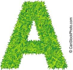 witte , gras, groene, brief, achtergrond