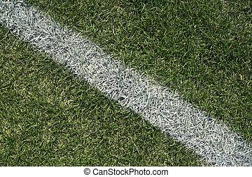 witte , grens, lijn, van, een, gespeel veld