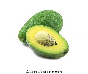witte , helft, avocado, achtergrond, een