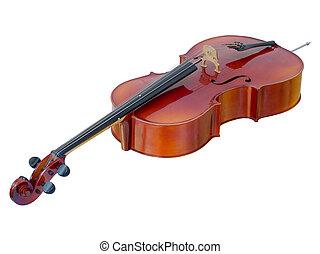 witte , het liggen, cello, vrijstaand
