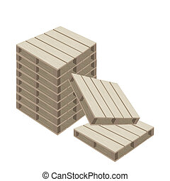 witte , hout, pallets, achtergrond, stapel