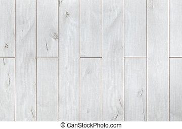 witte , houtenvloer, als, achtergrond, textuur