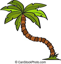 witte , illustratie, palma, vector, achtergrond.