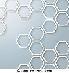 witte , infographic, zeshoeken, honingraat