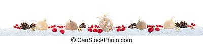 witte kerst, guirlande