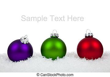 witte kerst, ornaments/baubles