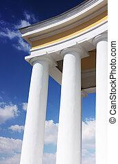 witte , kolommen