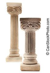 witte , kolommen, twee, achtergrond