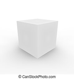 witte kubus, achtergrond, kleurrijke, 3d