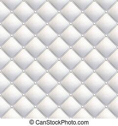 witte , leder upholstery, seamless, diagonaal