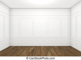 witte , lege, classieke, kamer