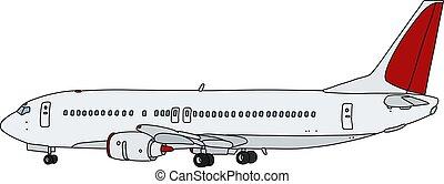 witte , lijnvliegtuig, straalvliegtuig